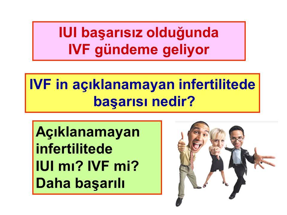 IUI başarısız olduğunda IVF in açıklanamayan infertilitede