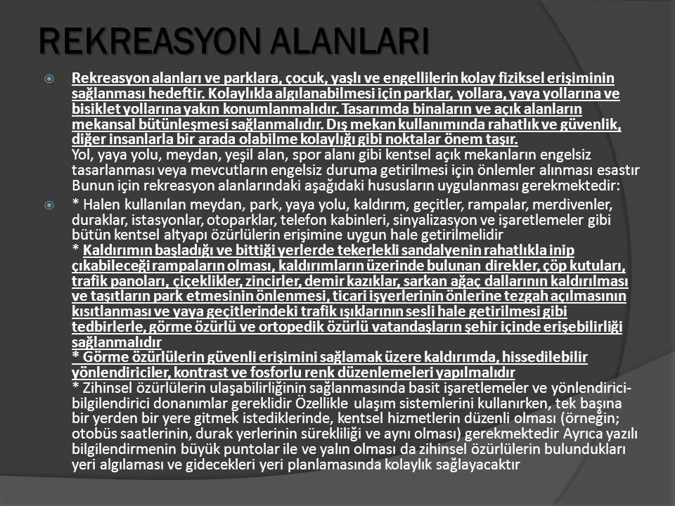 REKREASYON ALANLARI