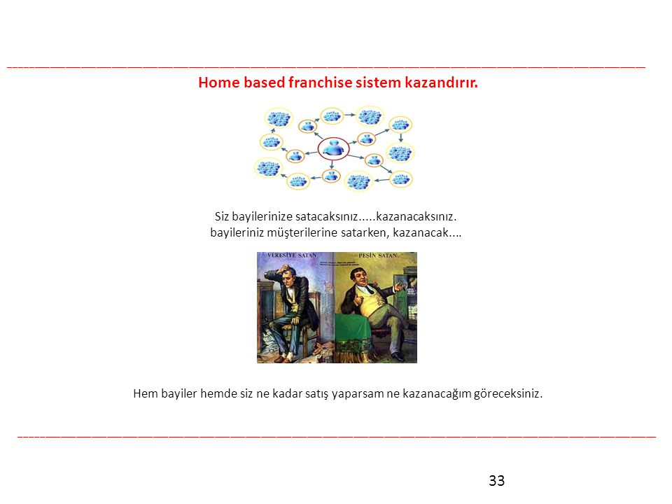 Home based franchise sistem kazandırır.