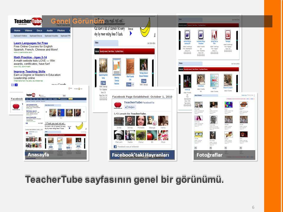 TeacherTube sayfasının genel bir görünümü.