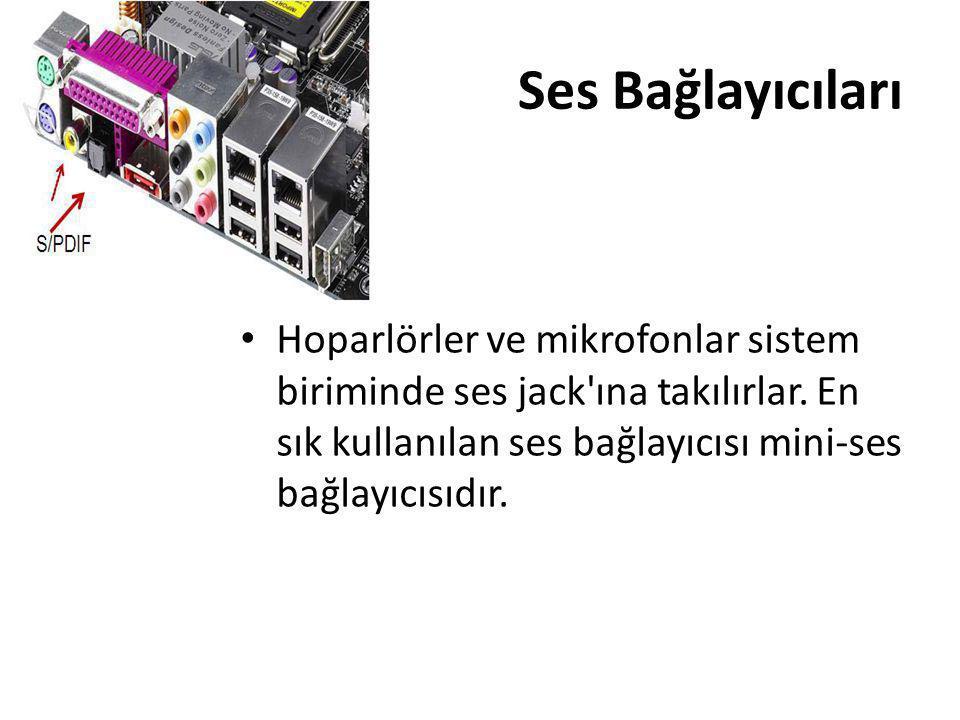 Ses Bağlayıcıları Hoparlörler ve mikrofonlar sistem biriminde ses jack ına takılırlar.