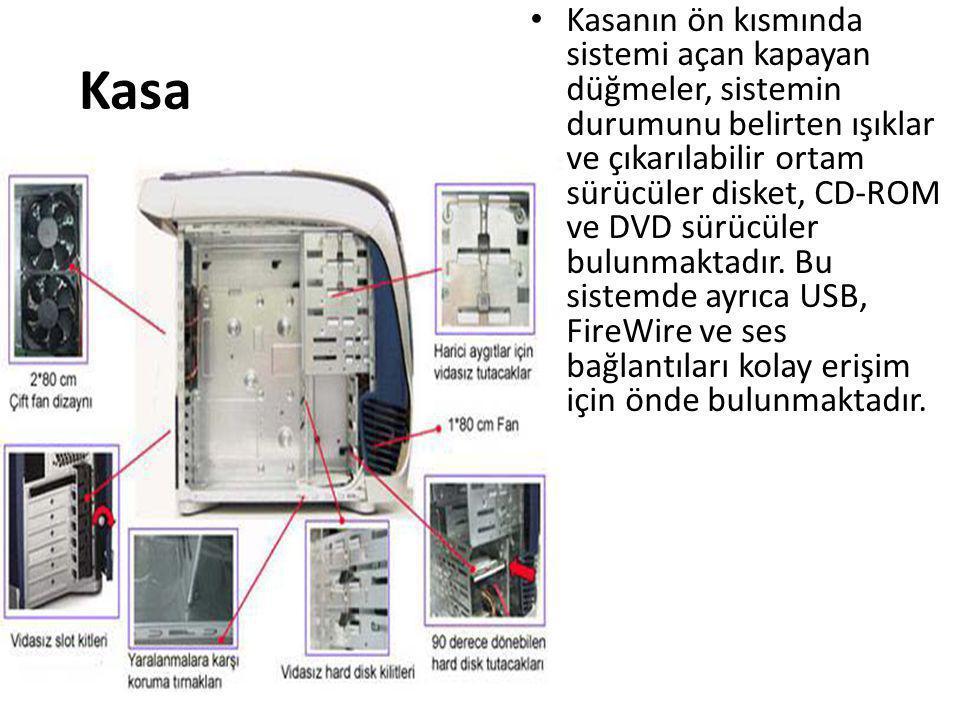 Kasanın ön kısmında sistemi açan kapayan düğmeler, sistemin durumunu belirten ışıklar ve çıkarılabilir ortam sürücüler disket, CD-ROM ve DVD sürücüler bulunmaktadır. Bu sistemde ayrıca USB, FireWire ve ses bağlantıları kolay erişim için önde bulunmaktadır.