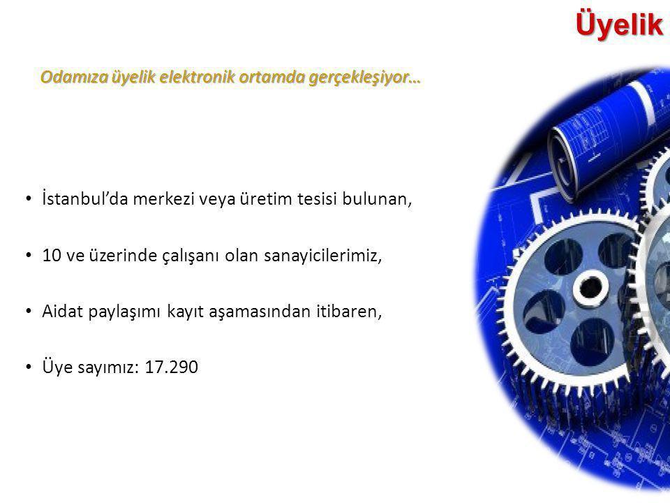 Üyelik İstanbul'da merkezi veya üretim tesisi bulunan,