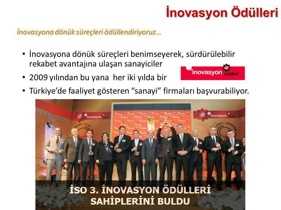 İnovasyon Ödülleri İnovasyona dönük süreçleri ödüllendiriyoruz…