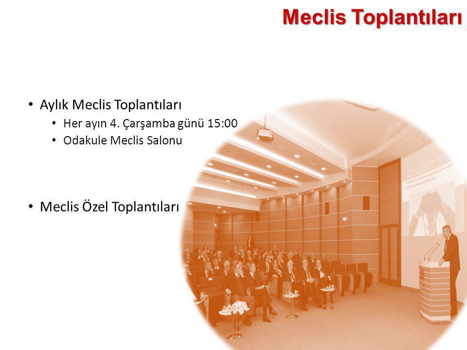 Meclis Toplantıları Aylık Meclis Toplantıları Meclis Özel Toplantıları