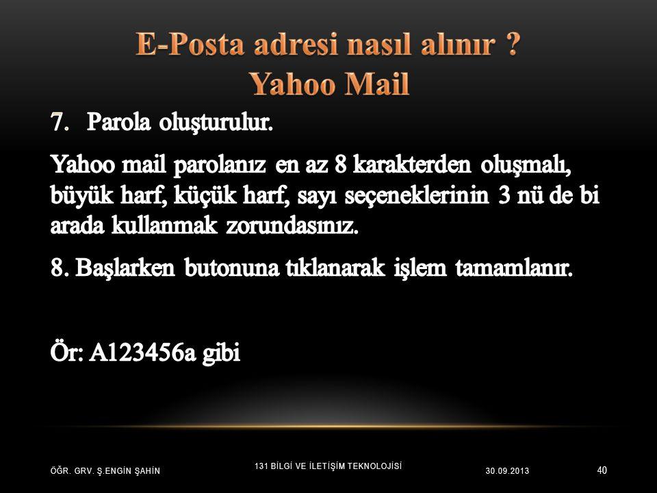 E-Posta adresi nasıl alınır Yahoo Mail