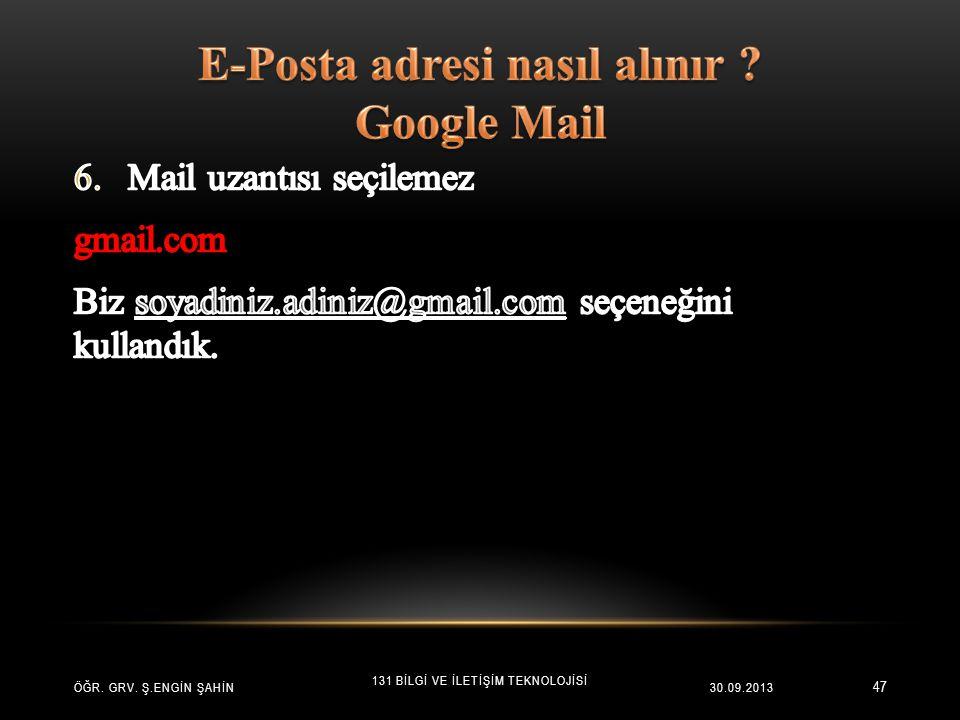 E-Posta adresi nasıl alınır Google Mail
