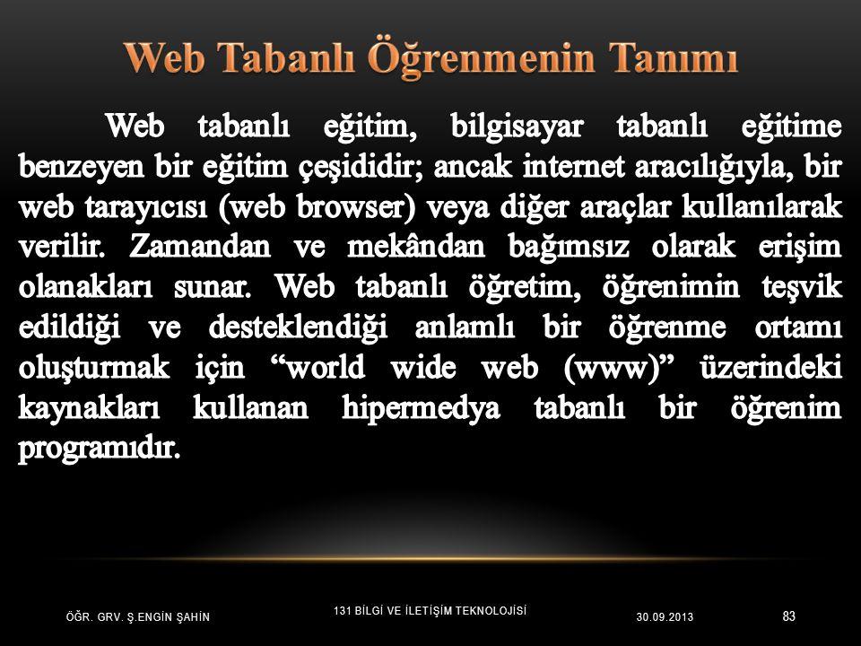 Web Tabanlı Öğrenmenin Tanımı