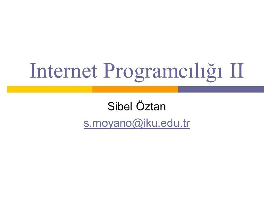 Internet Programcılığı II