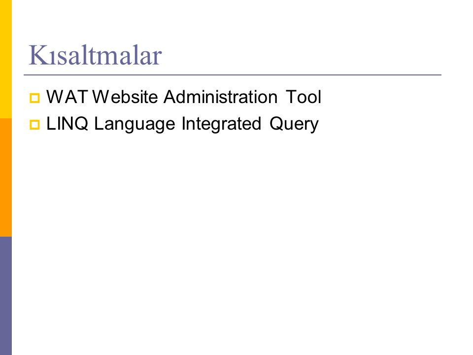 Kısaltmalar WAT Website Administration Tool