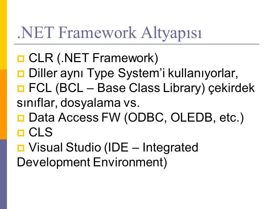 .NET Framework Altyapısı