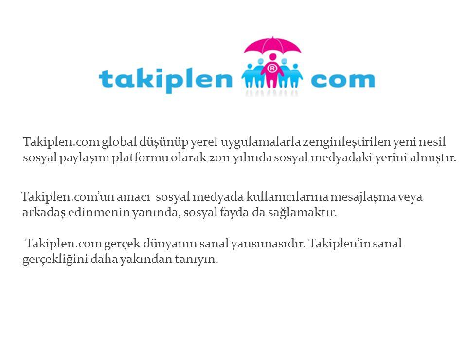 Takiplen.com global düşünüp yerel uygulamalarla zenginleştirilen yeni nesil sosyal paylaşım platformu olarak 2011 yılında sosyal medyadaki yerini almıştır.