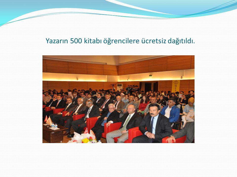 Yazarın 500 kitabı öğrencilere ücretsiz dağıtıldı.