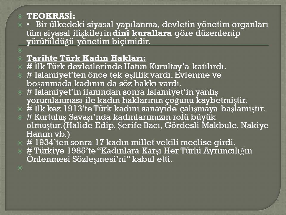 TEOKRASİ: