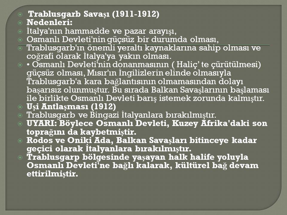 Trablusgarb Savaşı (1911-1912)