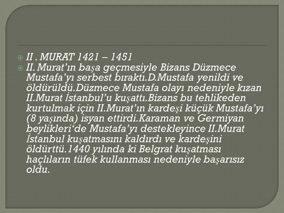 II . MURAT 1421 – 1451