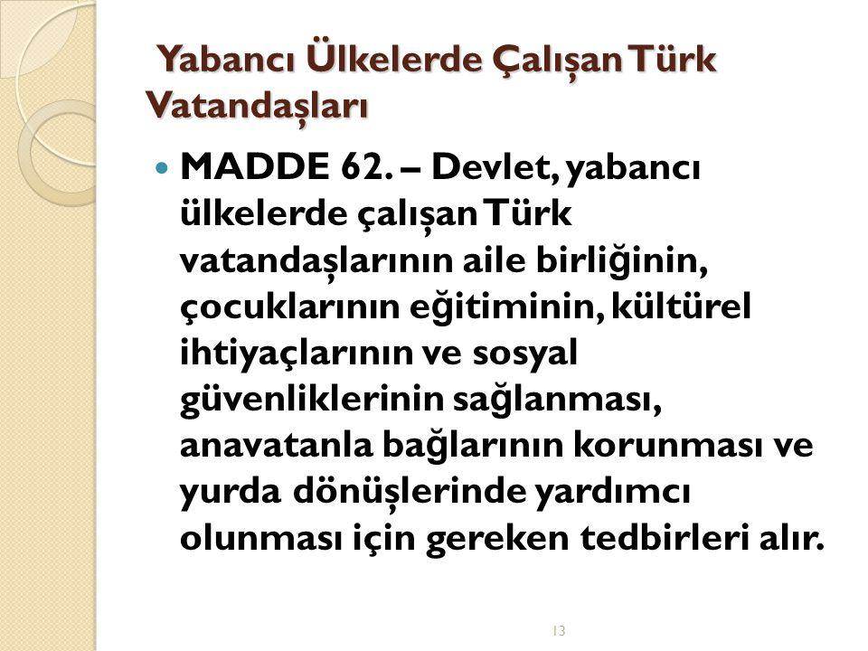 Yabancı Ülkelerde Çalışan Türk Vatandaşları