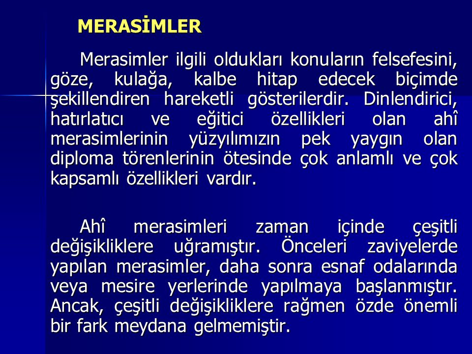 MERASİMLER