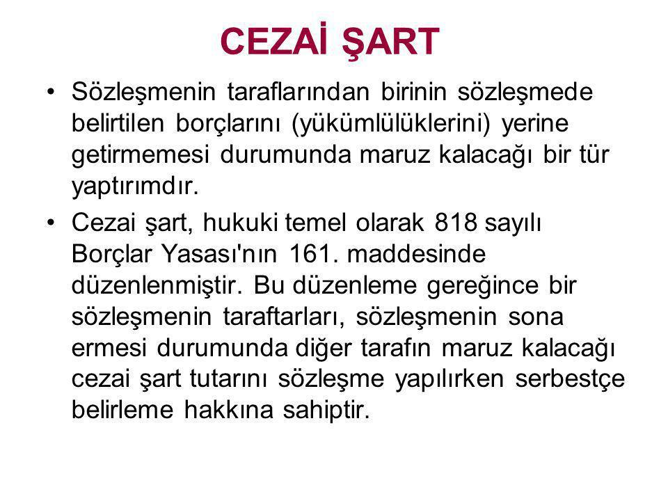 CEZAİ ŞART