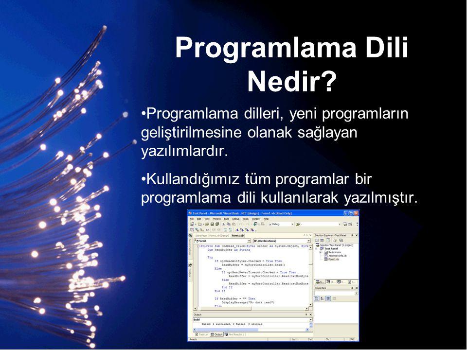 Programlama Dili Nedir
