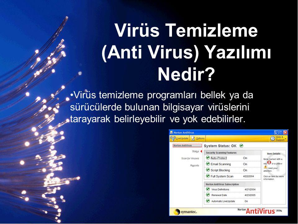 Virüs Temizleme (Anti Virus) Yazılımı Nedir