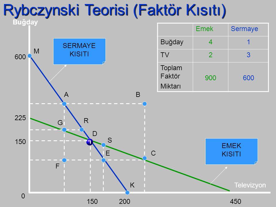 Rybczynski Teorisi (Faktör Kısıtı)