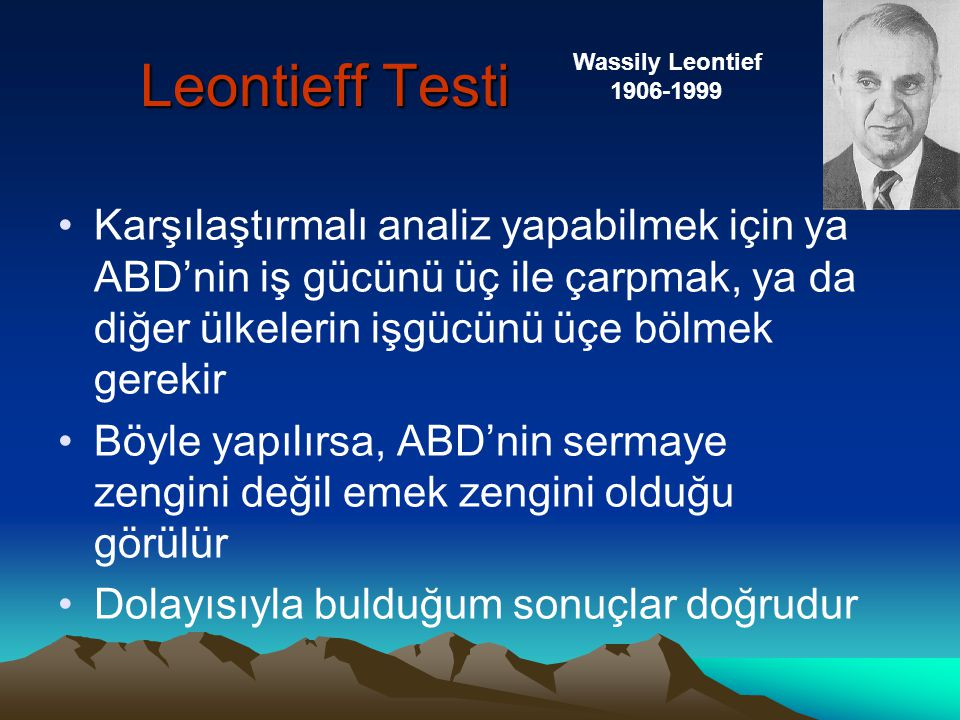 Leontieff Testi Wassily Leontief. 1906-1999.