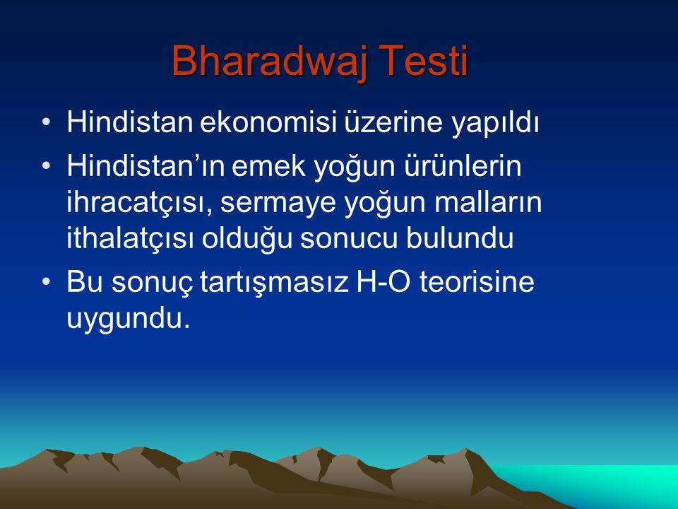 Bharadwaj Testi Hindistan ekonomisi üzerine yapıldı