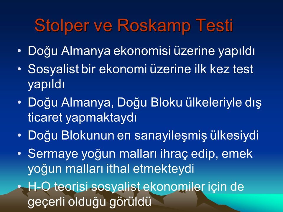 Stolper ve Roskamp Testi