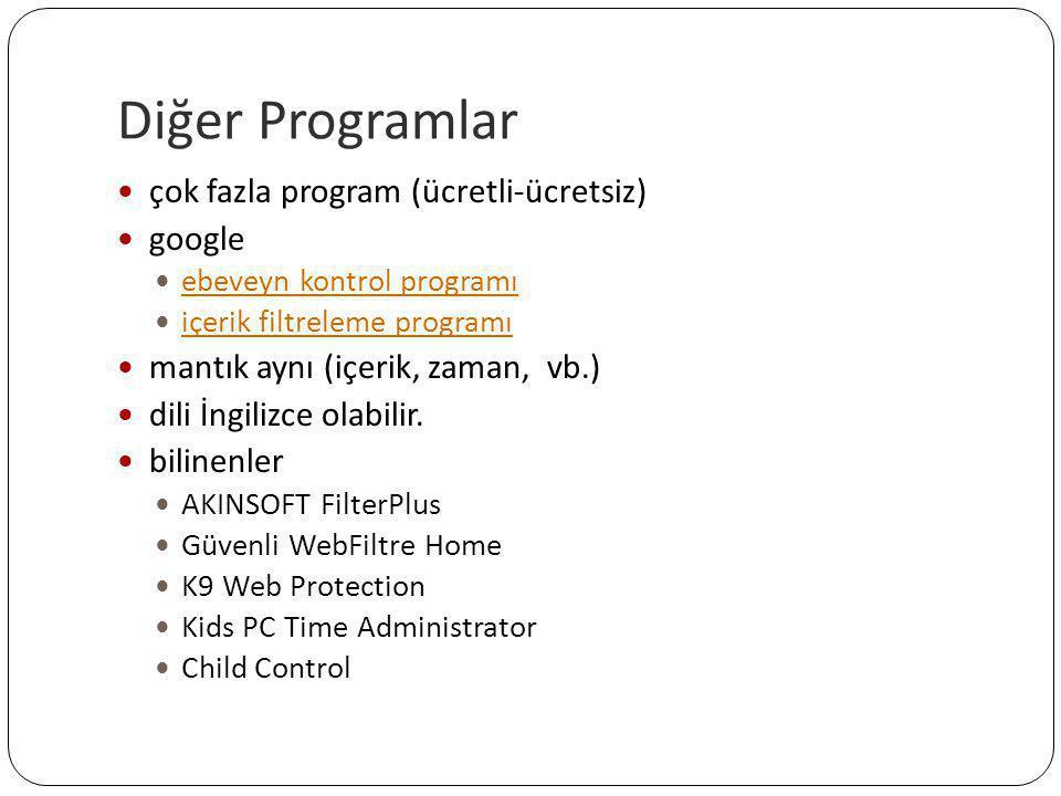 Diğer Programlar çok fazla program (ücretli-ücretsiz) google