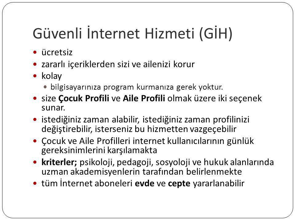 Güvenli İnternet Hizmeti (GİH)