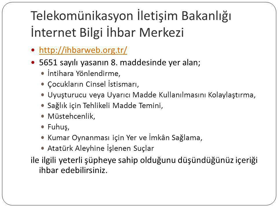 Telekomünikasyon İletişim Bakanlığı İnternet Bilgi İhbar Merkezi