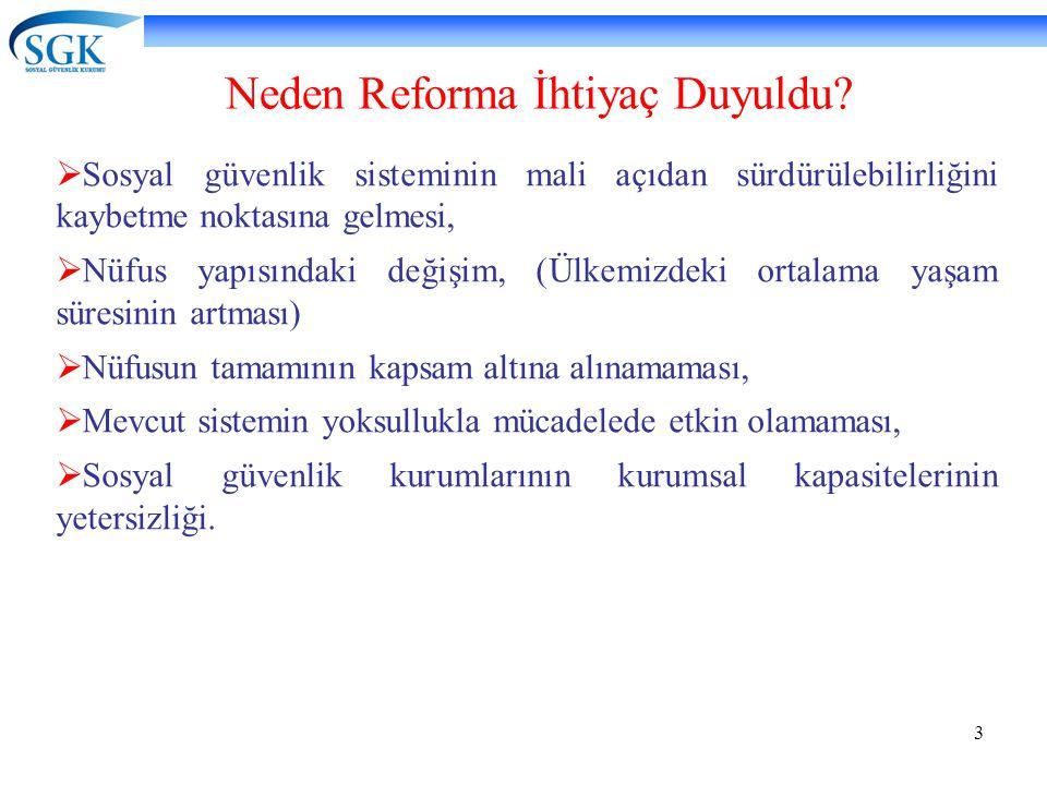 Neden Reforma İhtiyaç Duyuldu