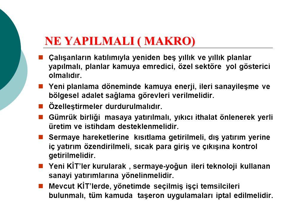NE YAPILMALI ( MAKRO)