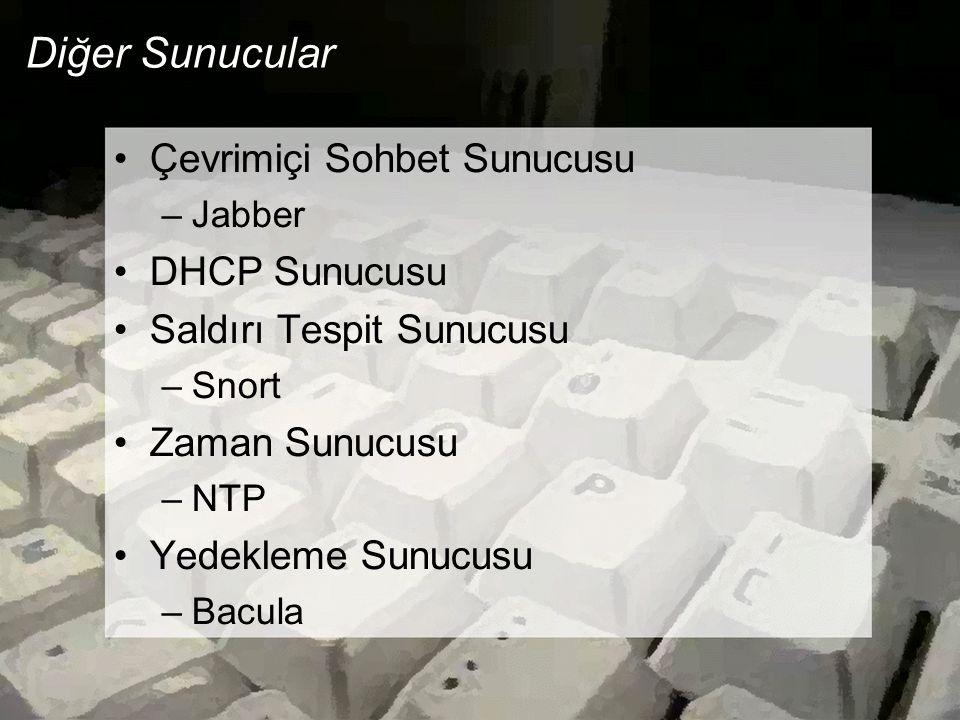 Diğer Sunucular Çevrimiçi Sohbet Sunucusu DHCP Sunucusu