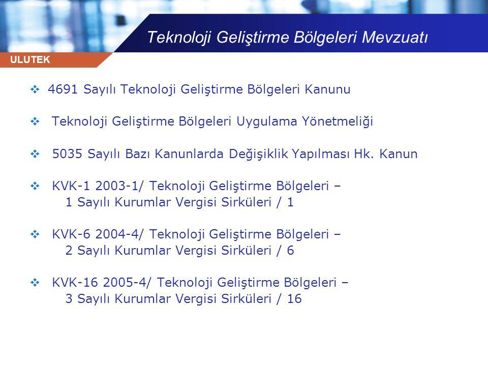 Teknoloji Geliştirme Bölgeleri Mevzuatı