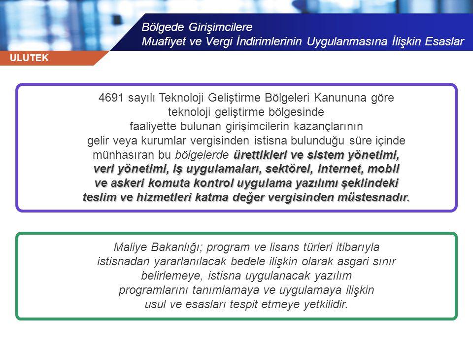 4691 sayılı Teknoloji Geliştirme Bölgeleri Kanununa göre