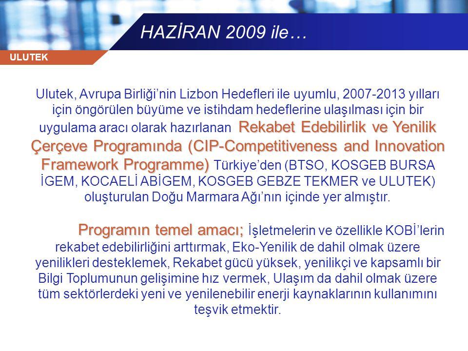 HAZİRAN 2009 ile…