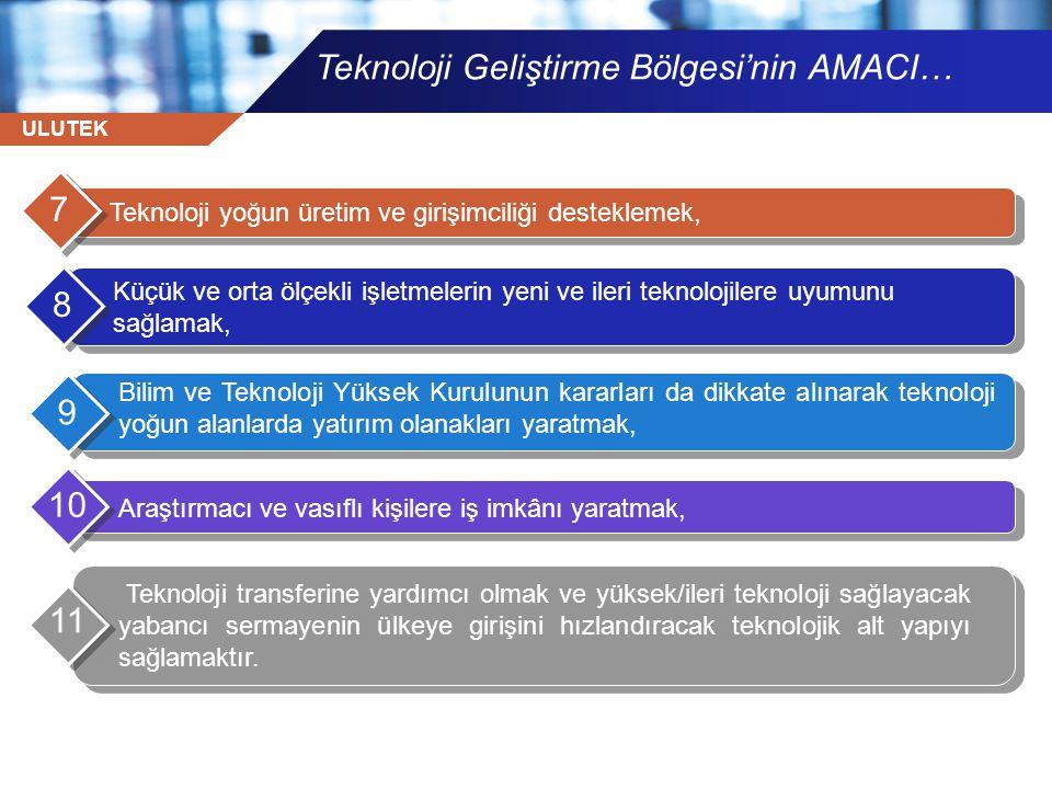 Teknoloji Geliştirme Bölgesi'nin AMACI…