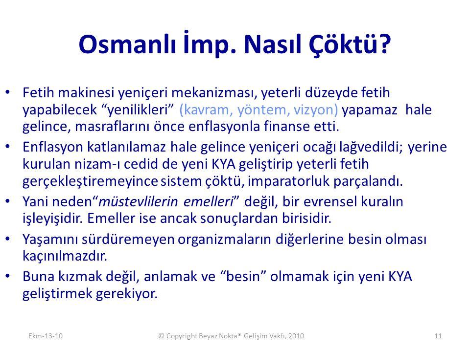 Osmanlı İmp. Nasıl Çöktü