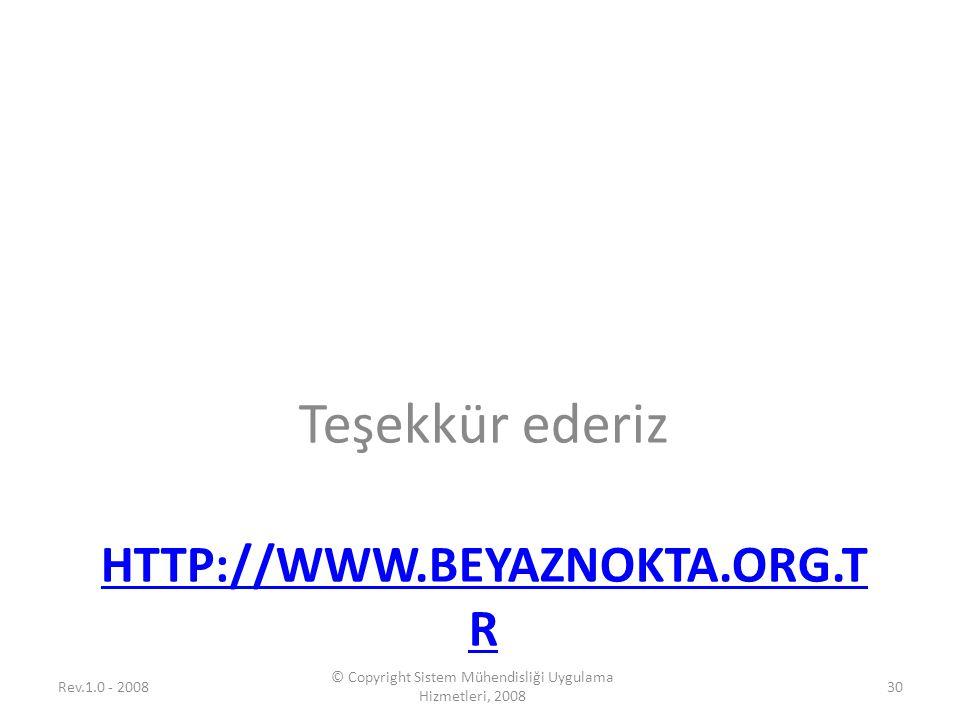 © Copyright Sistem Mühendisliği Uygulama Hizmetleri, 2008
