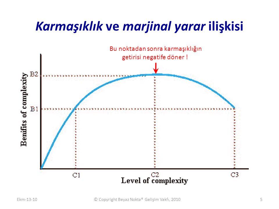 Karmaşıklık ve marjinal yarar ilişkisi