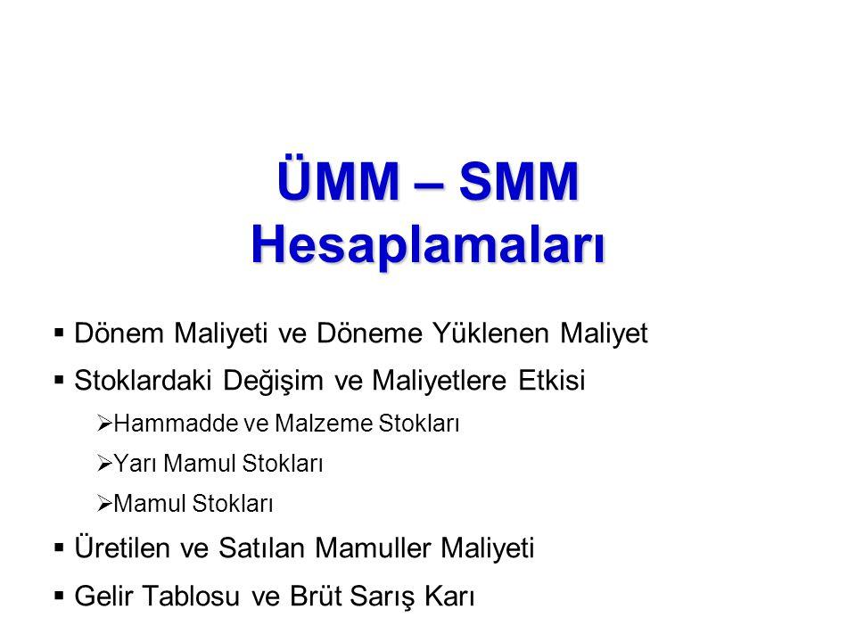 ÜMM – SMM Hesaplamaları