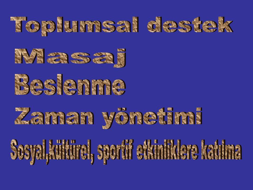 Sosyal,kültürel, sportif etkinliklere katılma