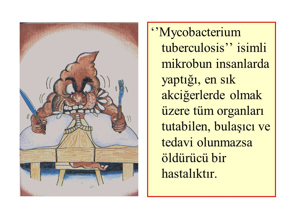 ''Mycobacterium tuberculosis'' isimli mikrobun insanlarda yaptığı, en sık akciğerlerde olmak üzere tüm organları tutabilen, bulaşıcı ve tedavi olunmazsa öldürücü bir hastalıktır.