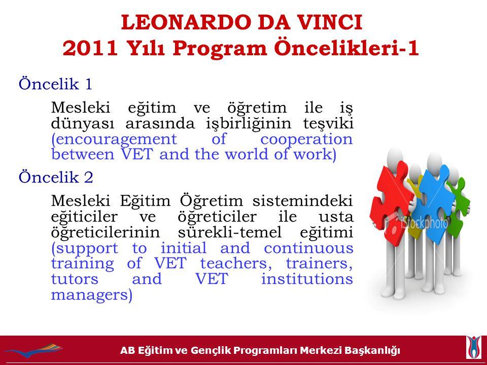 LEONARDO DA VINCI 2011 Yılı Program Öncelikleri-1