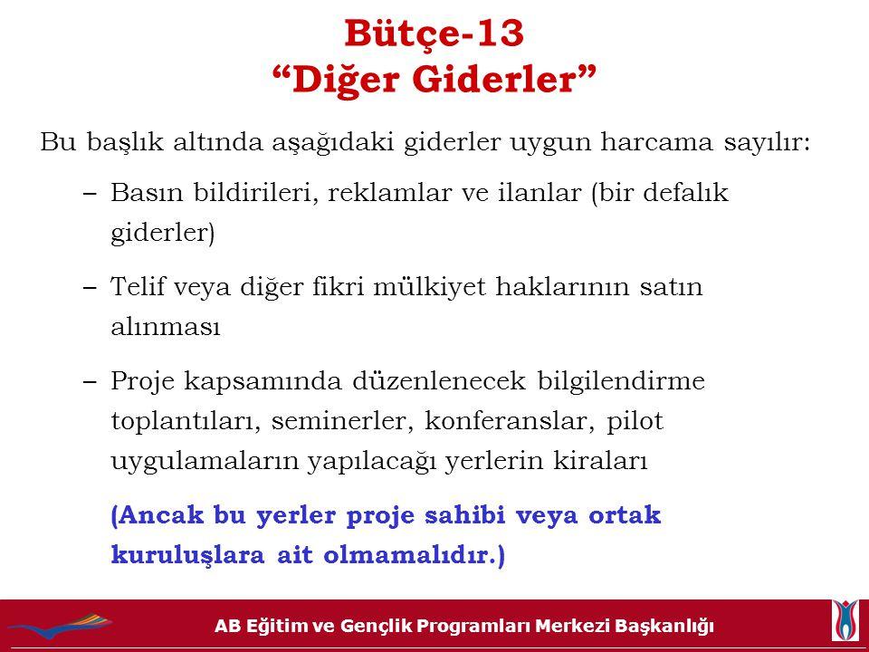 Bütçe-13 Diğer Giderler