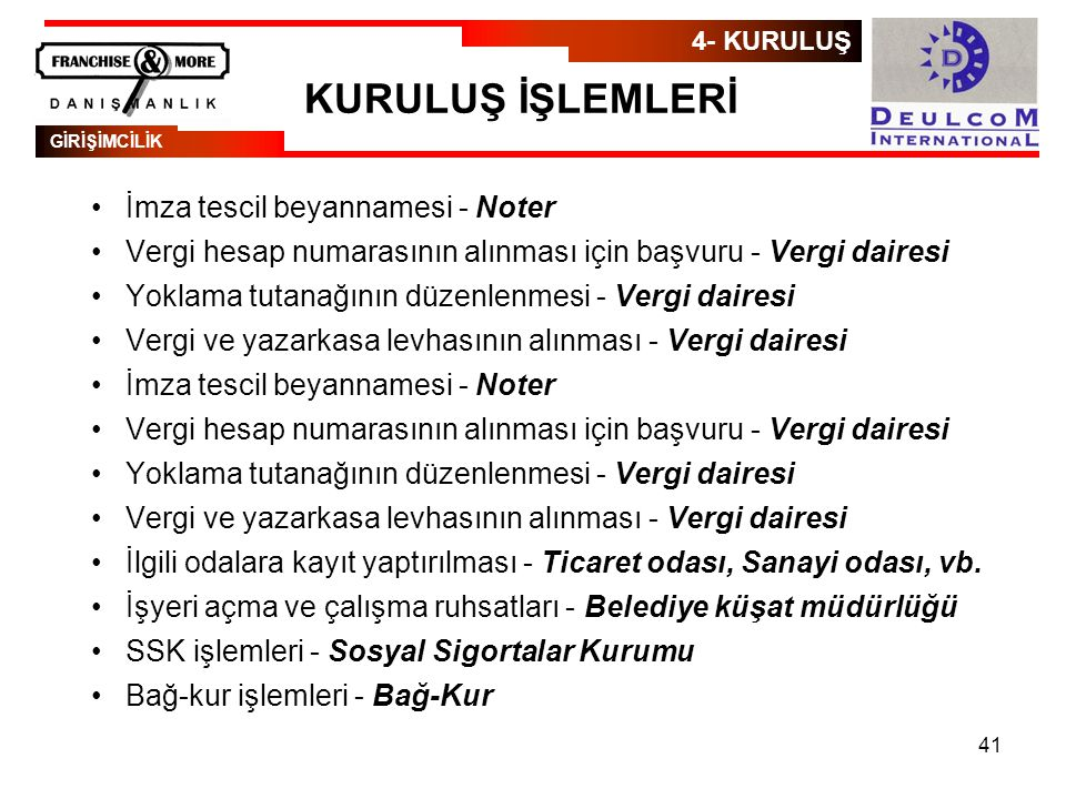 KURULUŞ İŞLEMLERİ İmza tescil beyannamesi - Noter
