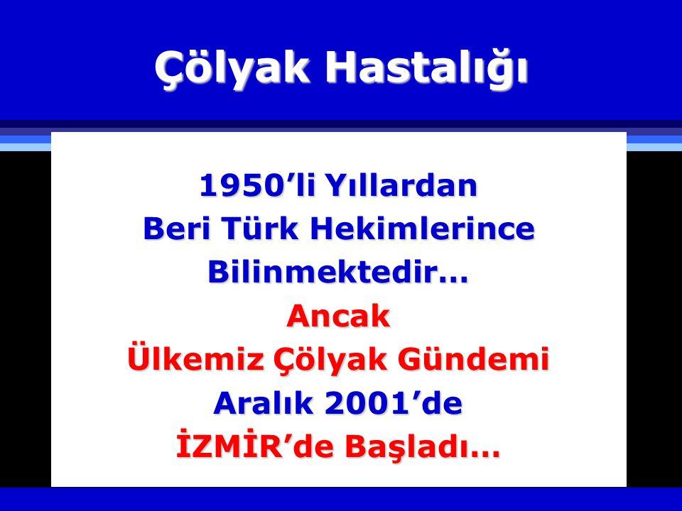 Beri Türk Hekimlerince Ülkemiz Çölyak Gündemi
