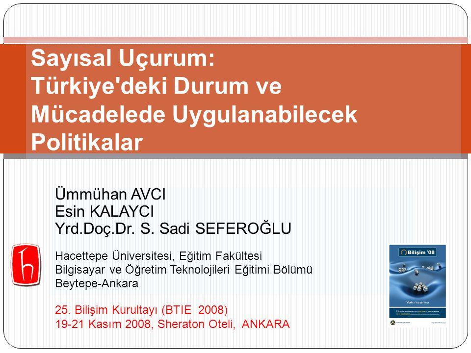 Sayısal Uçurum: Türkiye deki Durum ve Mücadelede Uygulanabilecek